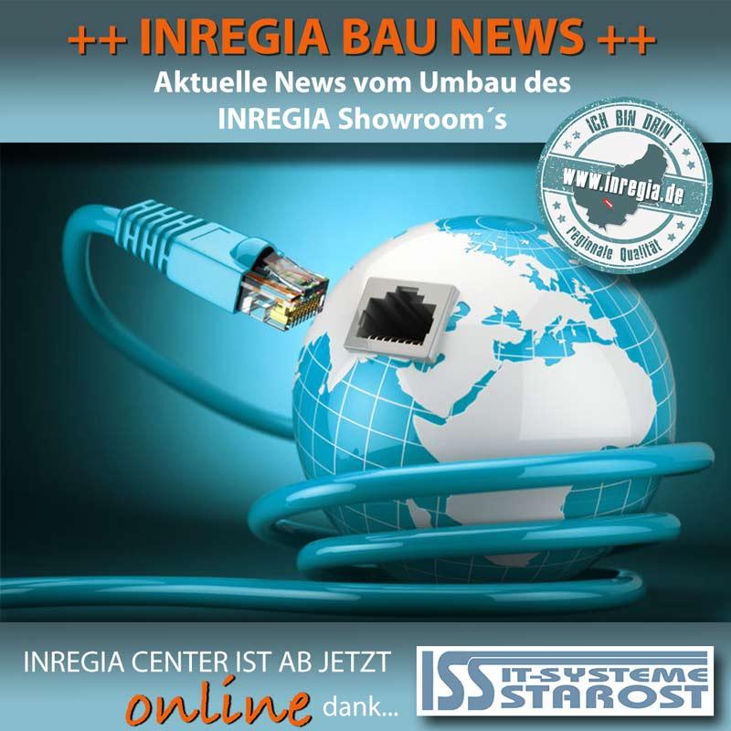 inregia bautagebuch umbau showroom Ausstellung eichsfelder Produkte und Unternehmen