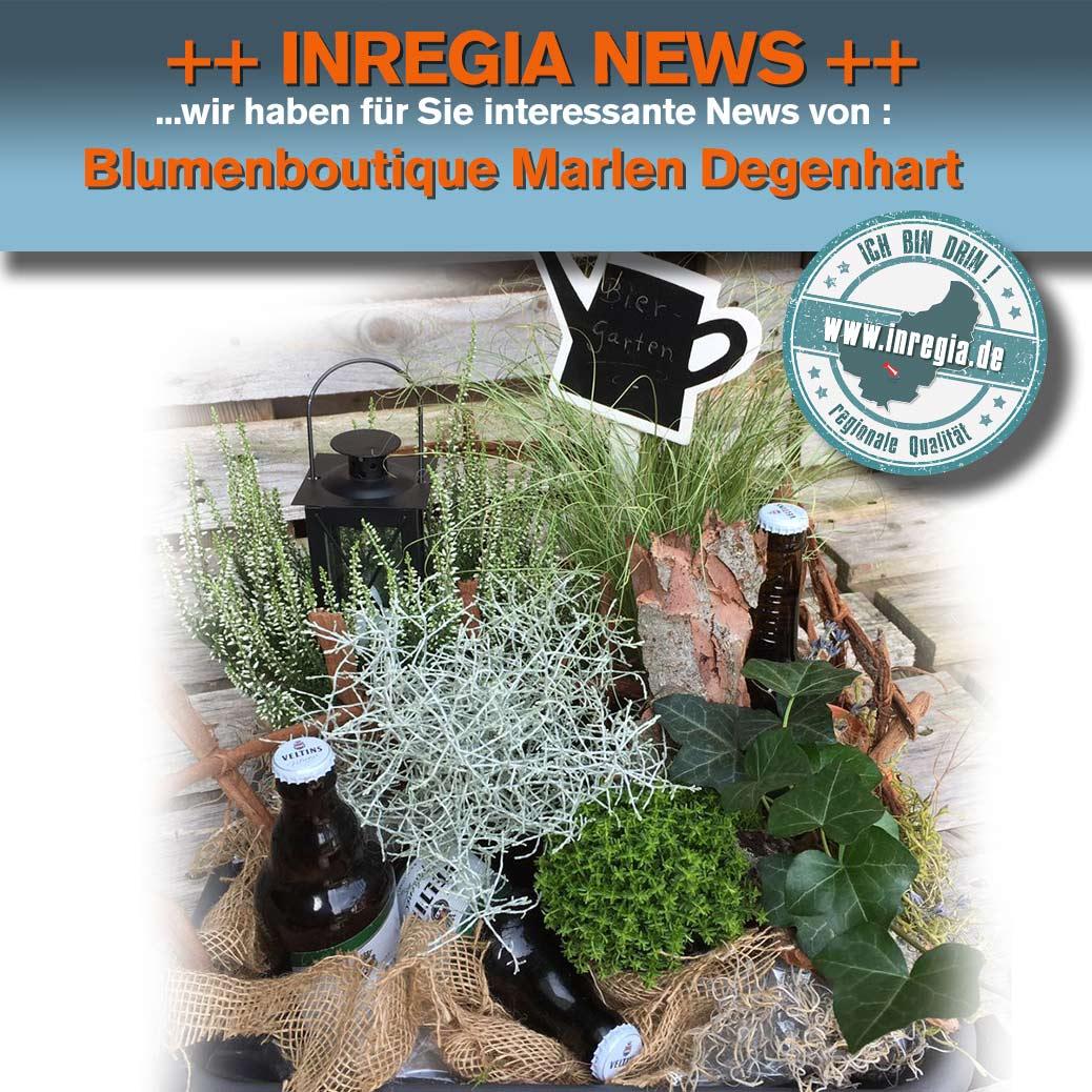 Männertagsgeschenk Biergarten inregia news Blumen Eichsfeld Marlen Degenhart