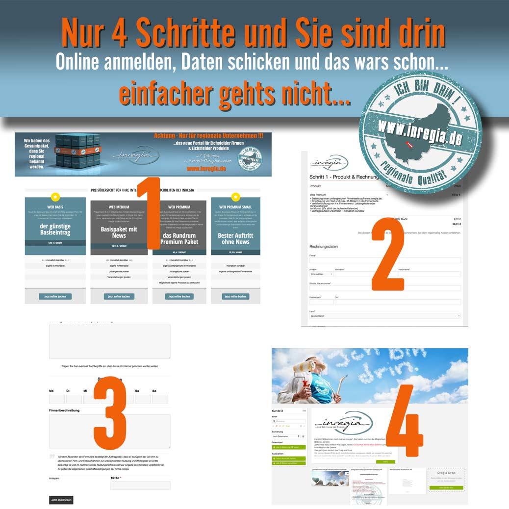 inregia online Eintragung Anleitung schritt