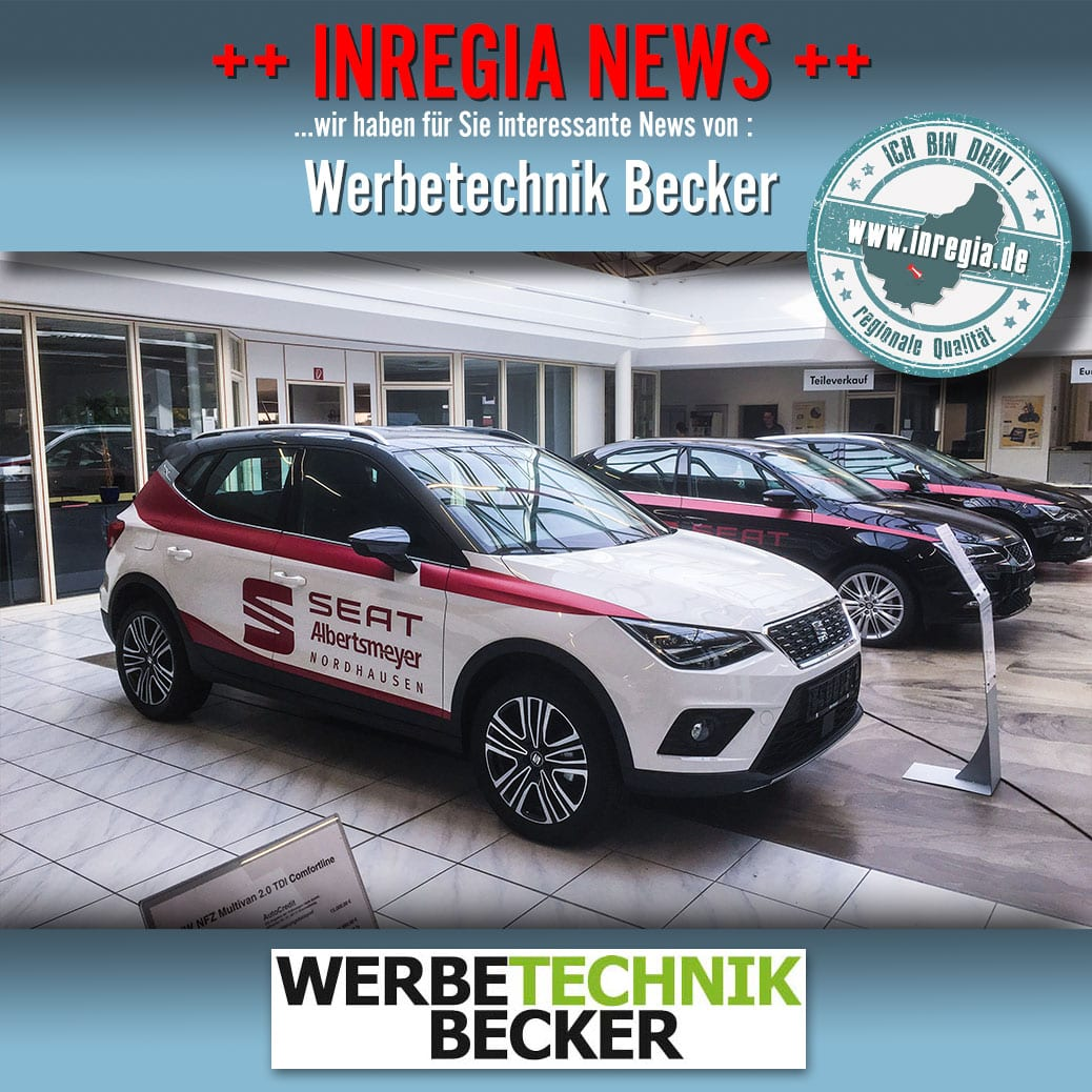 Fahrzeugbeklebung eichsfeld Werbebeschriftung Eichsfeld Werbetechnik Becker