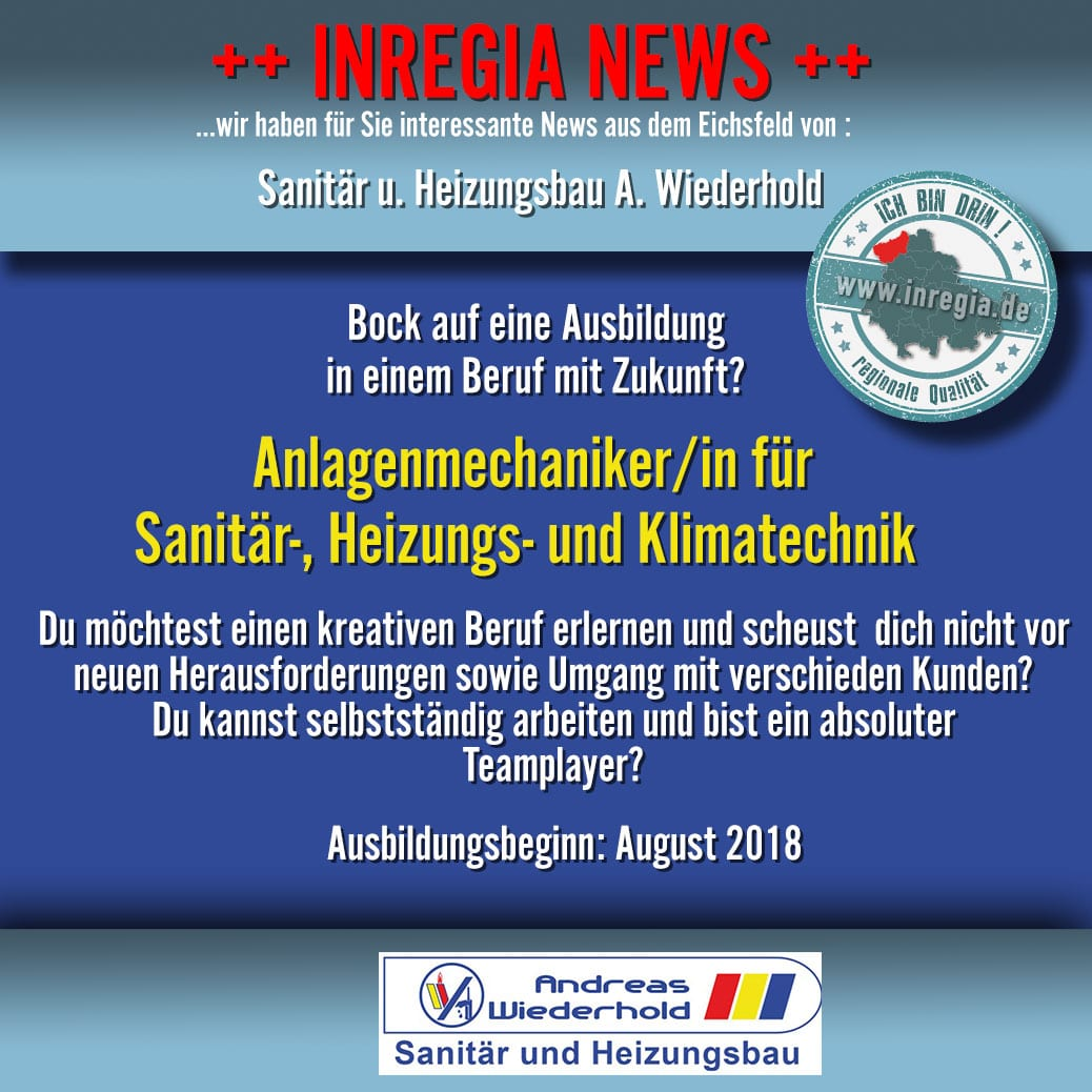 Eichsfelder Unternehmen Heizung Sanitär Andreas Wiederhold Dingelstädt Heizungsbau Eichsfeld Klimatechnik