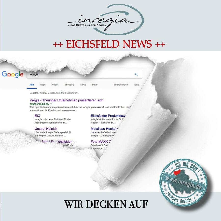 inregia unternehmen firmen googleoptimierung google ranking eichsfeld eichsfelder Unternehmen firmen produkte aus der Region