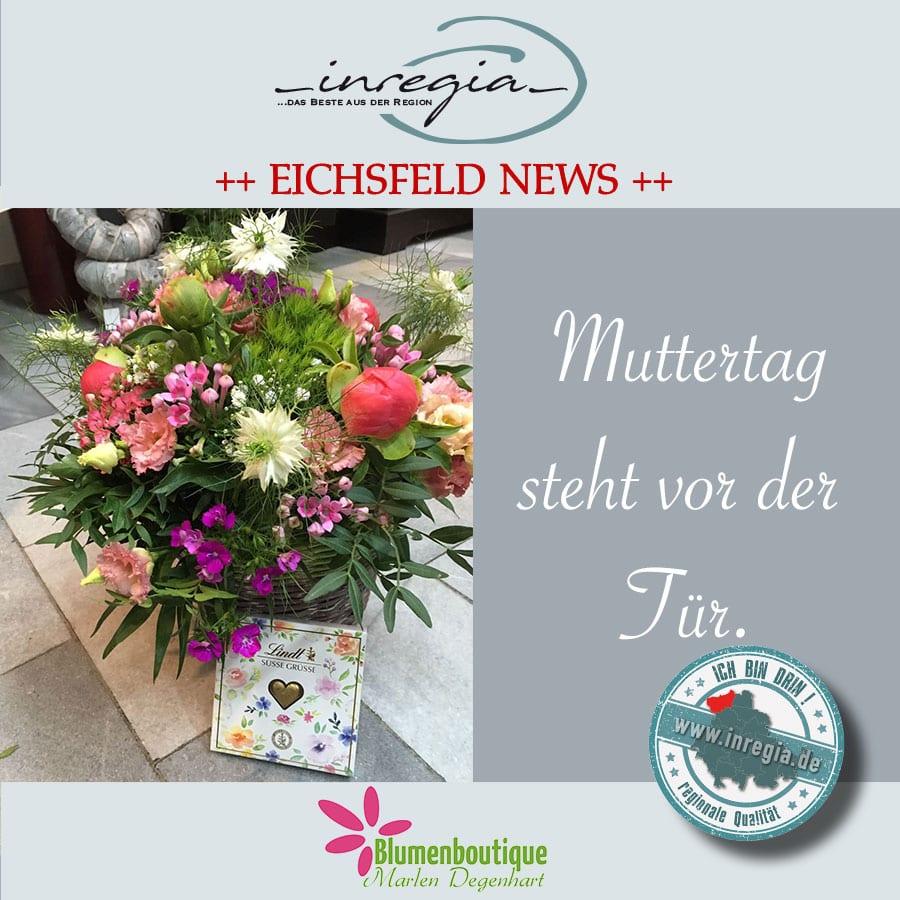 Muttertag Blumenstrauß Marlen Degenhart Blumenladen eichsfeld Blumengeschäft Fleurop Dingelstädt