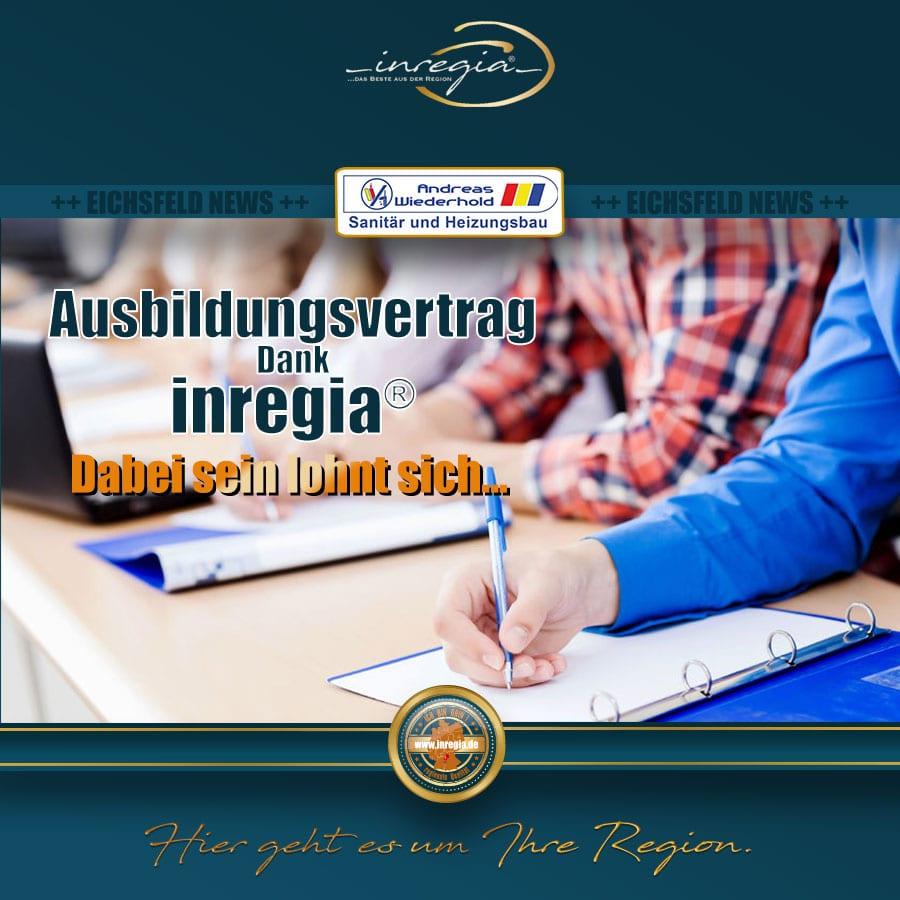 Ausbildung thüringen analgenmechaniker Ausbildungsvertrag eichsfeld inregia unternehmen region