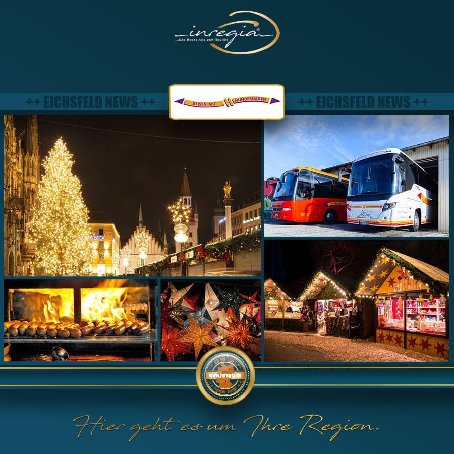 bustour weihnachtsmarkt leipzig eisenach reisen mit hundehagen busunternehmen busreise eichsfeld