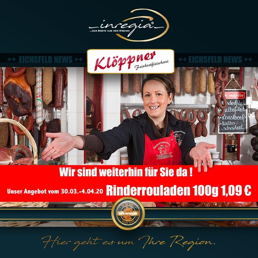 fleisch eichsfeld wurst bratwurst klöppner feinkost thüringen inregia Unternehmerdatenbank Untenrehmternetzwerk
