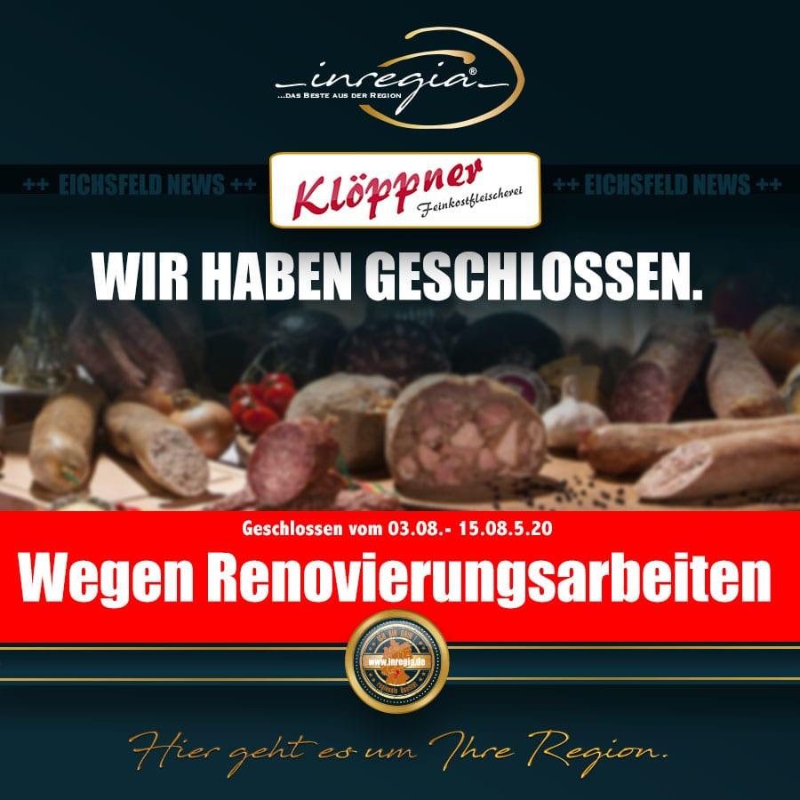 fleisch eichsfeld wurst bratwurst klöppner feinkost thüringen inregia