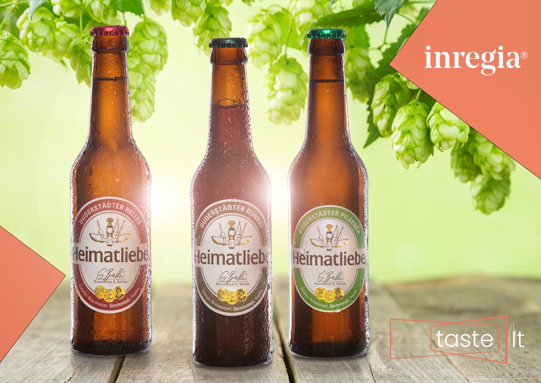 bier Eichsfeld Duderstadt inregiacenter taste it Heimatliebe Pilsener hell dunkel bier
