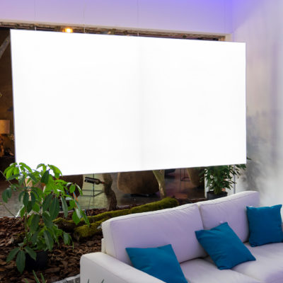 dress for walls Leuchtkästen leuchtbilder wandideen schallschutzelemente van Straaten inregiacenter produktpräsentationen produkte präsentieren eventlcoation