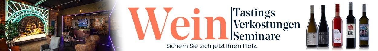 Weinseminare weintastings Weinlehrgänge thüringer weine Genussprodukte Veranstaltungen